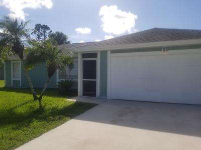 Port Saint Lucie Single Family Home For Sale: 2502 SW Aberdeen Street