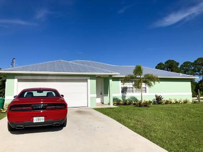 Port Saint Lucie Single Family Home For Sale: 501 NW Sharpe Street