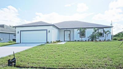 Port Saint Lucie Single Family Home For Sale: 247 SW South Quick Circle