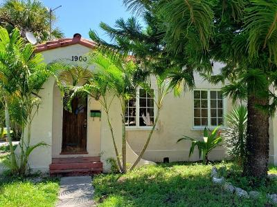 West Palm Beach Single Family Home For Sale: 1900 Florida Avenue