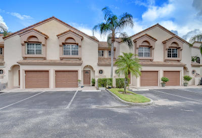 Boca Raton Townhouse For Sale: 9450 Boca River Circle