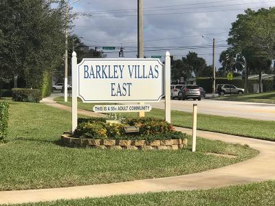 West Palm Beach Single Family Home For Sale: 2640 Barkley Drive E #G