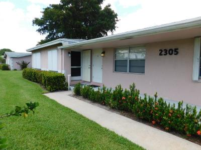 Delray Beach FL Single Family Home For Sale: $145,000