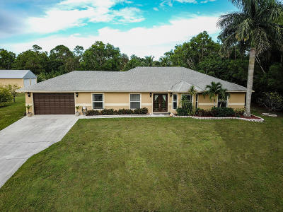 Jupiter Single Family Home For Sale: 11965 168th Street