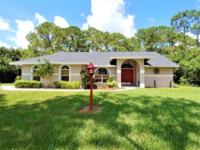 Jupiter Single Family Home For Sale: 16219 123rd Terrace