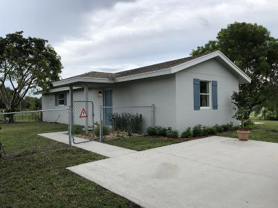 Loxahatchee Single Family Home For Sale: 18813 43rd Road