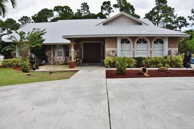 Loxahatchee Single Family Home For Sale: 14155 85th Road