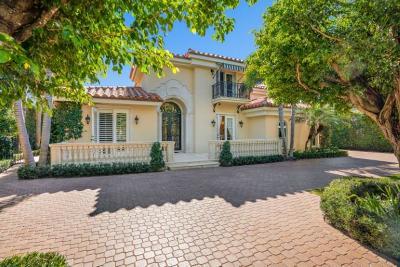 Palm Beach Single Family Home For Sale: 1460 Ocean Boulevard