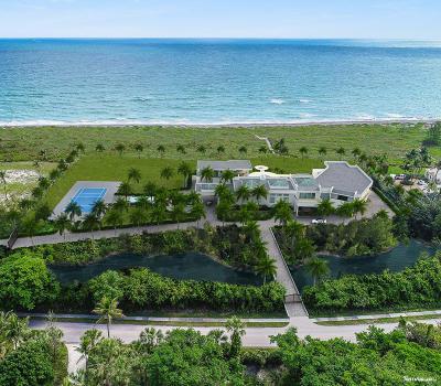 Hobe Sound Single Family Home For Sale: 483 S Beach Road