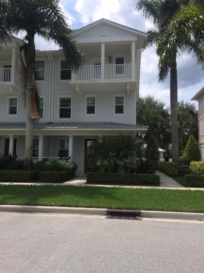 Jupiter Townhouse For Sale: 3418 W Mallory Boulevard