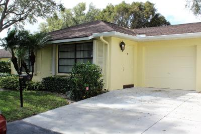 Boynton Beach Single Family Home For Sale: 9865 Parkinsonia Tree Trail #A