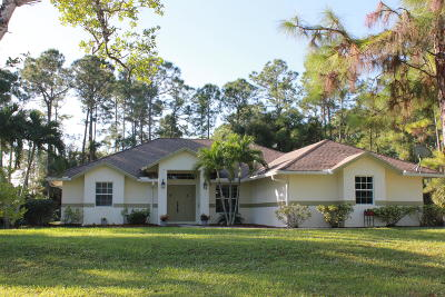 Loxahatchee Single Family Home For Sale: 14874 79th Court