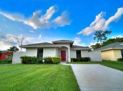 West Palm Beach Single Family Home For Sale: 5803 Lime Rd