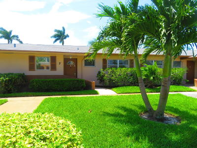 West Palm Beach Single Family Home For Sale: 2593 Dudley Drive W #F