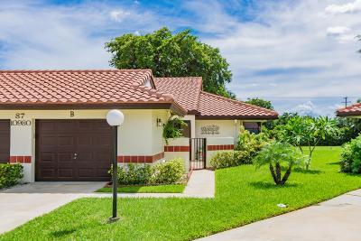 Boynton Beach Single Family Home For Sale: 10980 Roebelini Palm Court #B