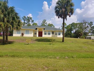 Loxahatchee Single Family Home For Sale: 17321 93rd Road
