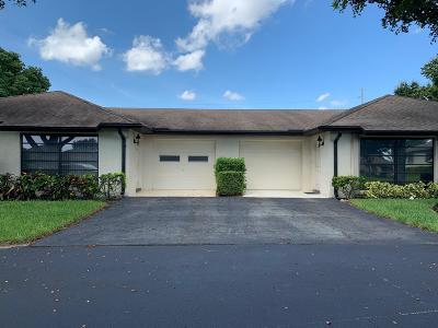 Boynton Beach Single Family Home For Sale: 4863 Dovewood Terrace #A
