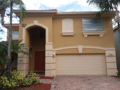 West Palm Beach Single Family Home For Sale: 433 Gazetta Way