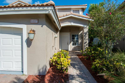West Palm Beach Single Family Home For Sale: 3337 Turtle Cove