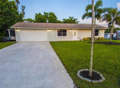 Lake Worth Single Family Home For Sale: 6922 Boston Drive