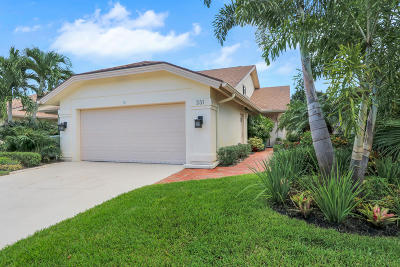Jupiter Single Family Home For Sale: 331 Leeward Drive
