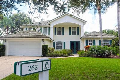 Jupiter Single Family Home For Sale: 262 Crane Point S