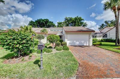 Boynton Beach Single Family Home For Sale: 21 Glens West Drive