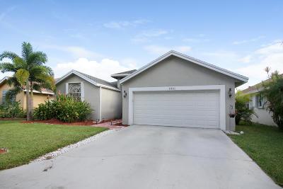 Boynton Beach Single Family Home For Sale: 1061 Fairfax Circle W