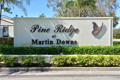 Martin County Condo For Sale: 1635 SW Silver Pine Way #109-E2