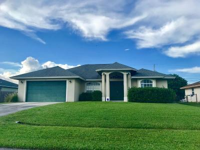 St Lucie County Single Family Home For Sale: 111 SW Milburn Circle