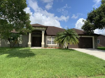 Port Saint Lucie Single Family Home For Sale: 3862 SW Kocerik Street