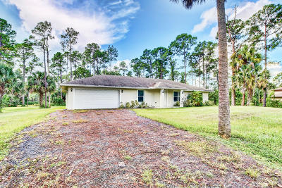 Loxahatchee Single Family Home For Sale: 17184 63rd Road