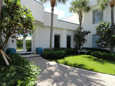 Palm Beach Single Family Home For Sale: 1742 S Ocean Boulevard