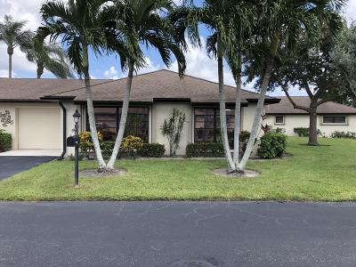 Boynton Beach Single Family Home For Sale: 4971 Eaglewood Road #B