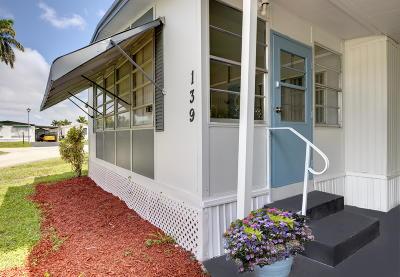Boynton Beach Mobile Home For Sale: 12375 S Military Trail #139