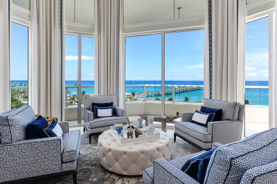 Palm Beach Condo For Sale: 3000 S Ocean Boulevard #Ph-4