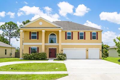 Port Saint Lucie Single Family Home For Sale: 685 NW Bayshore Boulevard
