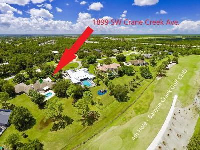 Palm City Single Family Home For Sale: 1899 SW Crane Creek Avenue