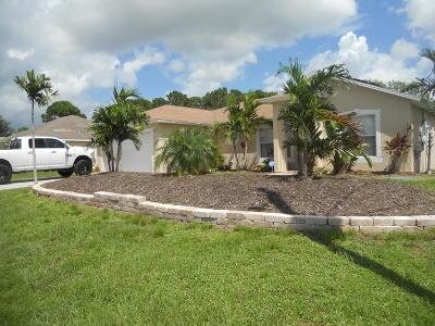 Port Saint Lucie Single Family Home For Sale: 603 NW N Macedo Bv Boulevard