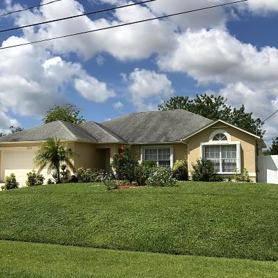 Port Saint Lucie Single Family Home For Sale: 2110 SW Algiers Street