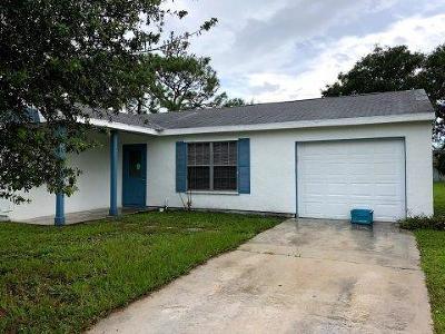 Port Saint Lucie Single Family Home For Sale: 389 SW Tulip Bv Boulevard