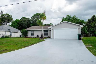Port Saint Lucie Single Family Home For Sale: 782 NW Avens Street