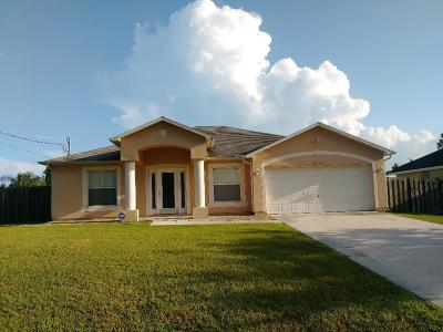 Port Saint Lucie Single Family Home For Sale: 6540 NW Molton Circle