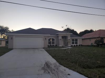 Port Saint Lucie Single Family Home For Sale: 6464 NW Friendly Circle