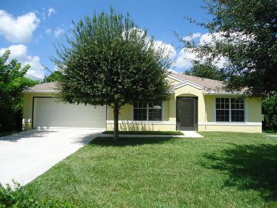 Port Saint Lucie Single Family Home For Sale: 5649 NW Croton Avenue