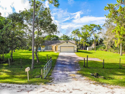 Loxahatchee Single Family Home For Sale: 17454 49th Street
