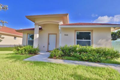West Palm Beach Single Family Home For Sale: 745 Tallapoosa Street