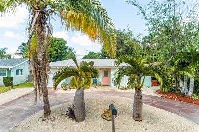 North Palm Beach Single Family Home For Sale: 1857 Circle Drive
