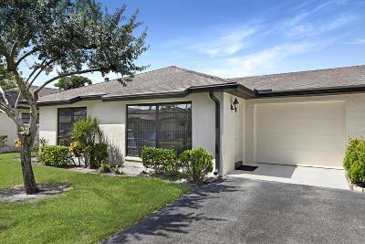 Boynton Beach Single Family Home For Sale: 4950-A Dovewood Road #A