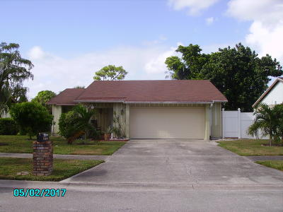 West Palm Beach Single Family Home For Sale: 6321 Harwich Center Road